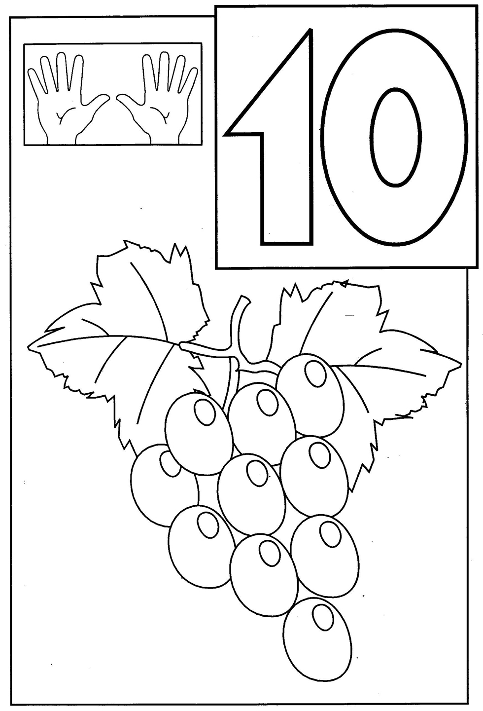 Numbers coloring sheets for toddlers - Graphs Coloring Pages