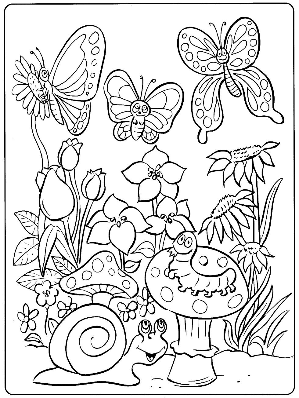 Www Coloring Pages Of Animals Toddler Coloring Pages